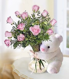 Bear & Roses Baby Girl Duo