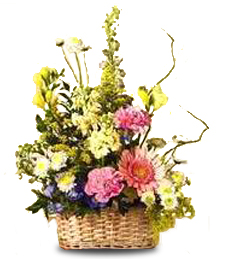 Yellow and Pastel Basket