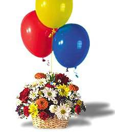 Petit Basket with Balloons