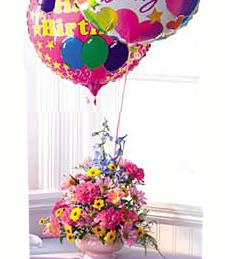 Flowers and Balloons