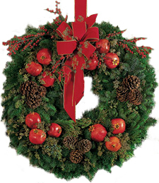 Pomegranate and Pinecone Wreath