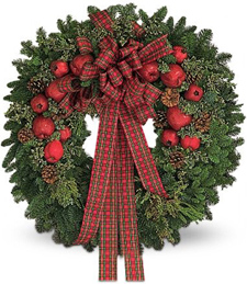 Fresh Wreath w/ Apples