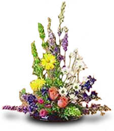 Larkspur and Delphinium Arrangement -- Love