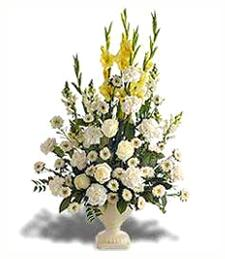 Yellow Gladiolus Arrangement