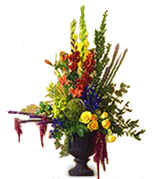 Multicolor Flower Urn