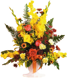 Yellow Gladiolus Basket