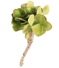 Natural Green Boutonniere