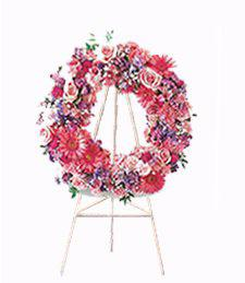 Pink Funeral Wreath