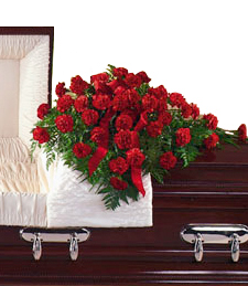 Casket Funeral Cover - Medium