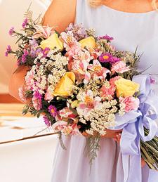 Pastel Pleasures Wedding Bouquet