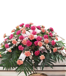 Pink Carnations Casket Spray