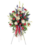 Patriotic Stance Funeral Spray