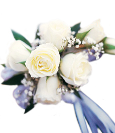 White Luxury Corsage
