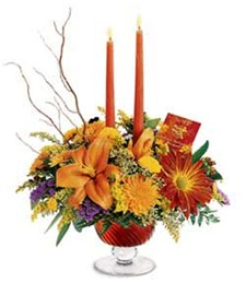 Candlelit Autumn Splendor Bouquet