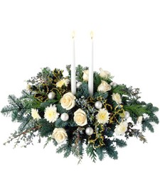 Funeral Winter White Centerpiece