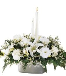 Funeral Candlelit Glow Arrangement