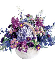 Floral Rhapsody Song of Sympathy Basket
