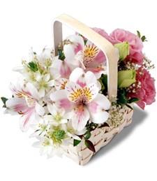 Springtime Floral Basket