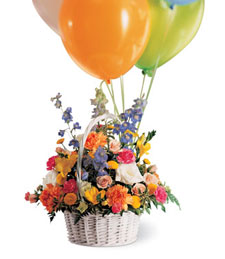 Colors Abound Birthday Arrangement