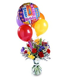 Colorburst Birthday Arrangement