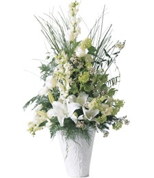 Weeping Lilies Sympathy Arrangement
