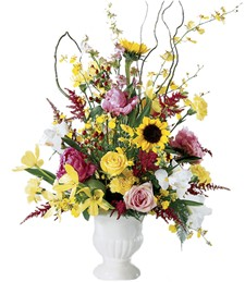 Enchanting Collage Funeral Arrangement