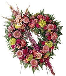 Eternal Rest Heart Funeral Wreath