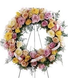 Vibrant Sympathy Funeral Wreath