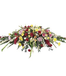 Blanket of Flowers Sympathy Casket Spray