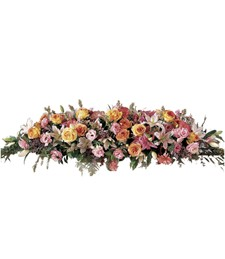 Shared Memories Sympathy Casket Spray