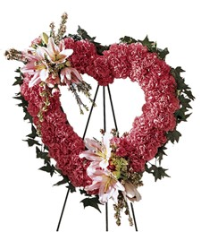 Our Love Eternal Heart Funeral Wreath
