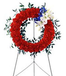 Patriotic Funeral Wreath