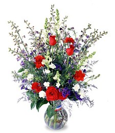 Salute to a Patriot Sympathy Bouquet