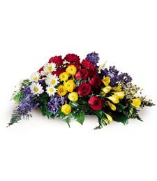 Floral Oasis Funeral Casket Spray
