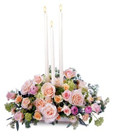 Petite Candle Sympathy Tribute Arrangement