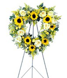 Forever Heart Funeral Wreath