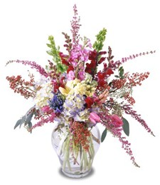 Cascading Beauty Birthday Arrangement