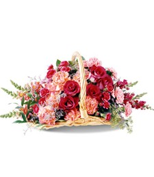 Blushing Love Basket