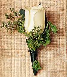 White Champagne Boutonniere