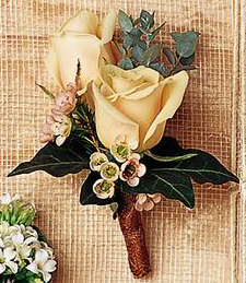 Sweet Peaches Boutonniere