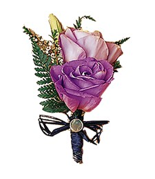 Shades of Purple Boutonniere