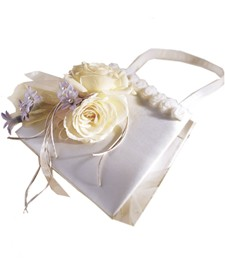 Ivory Rose Handbag Decoration