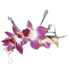 Elegant Orchid Headpiece