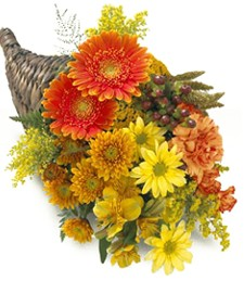 Cornucopia Sunset Fall Arrangement