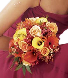 Shimmering Sunset Wedding Bouquet