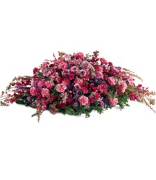 Elegant Blooms Funeral Casket Spray