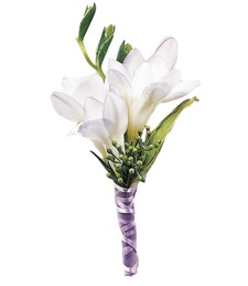 Lavender Mist Boutonniere