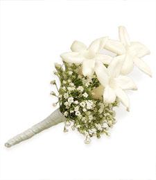 White Embrace Boutonniere