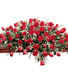 Full of Roses Casket Spray