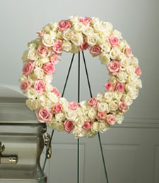 Victorian Roses Standing Wreath